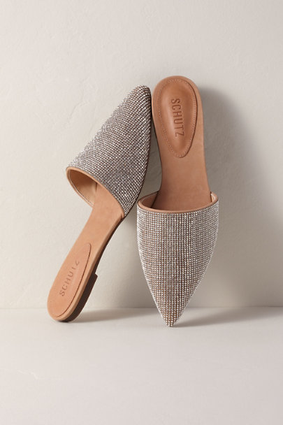 Schutz Neutral Schutz Felicie Crystal Slides | BHLDN