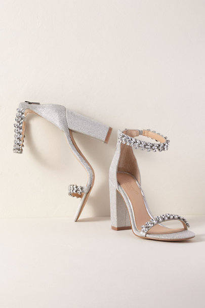 Jewel by Badgley Mischka Silver Jewel By Badgley Mischka Mayra Block Heels | BHLDN