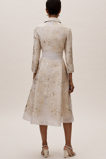 Teri Jon Silver/Gold Boyden Dress | BHLDN