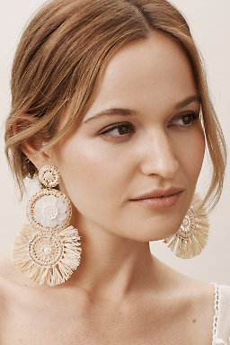 Raffia Sequin Earrings