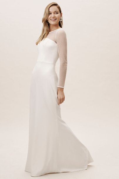 Amy Kuschel Ivory Cat Gown | BHLDN