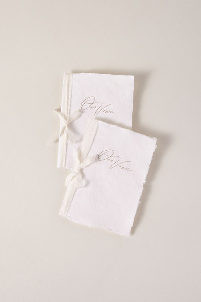 White Handmade Paper Vow Journals | BHLDN