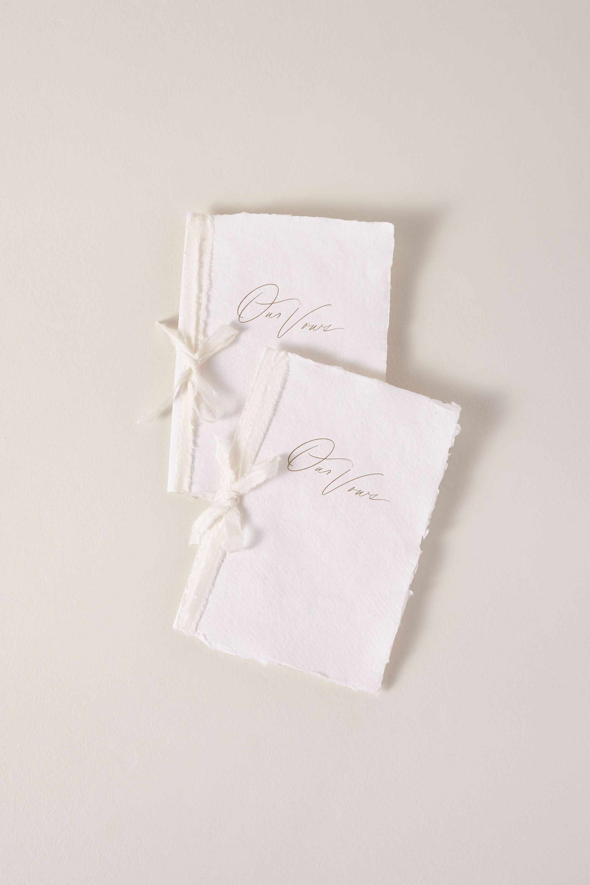 Handmade Paper Vow Journals