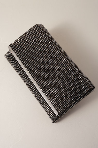 Adrianna Papell Dark Grey Nancy Clutch | BHLDN