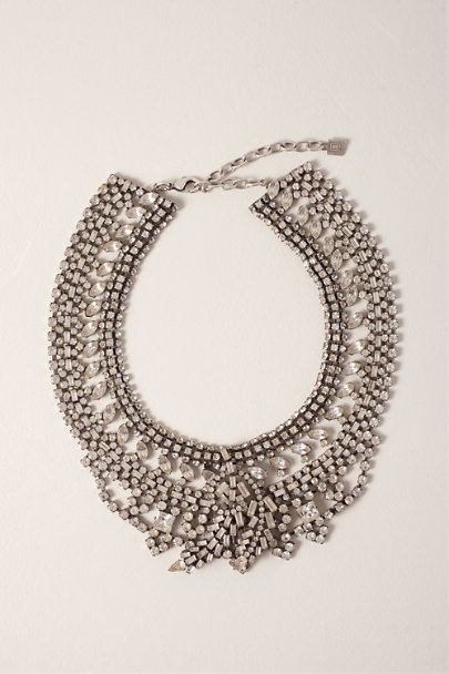 Dannijo Silver Gamila Crystal Statement Necklace | BHLDN