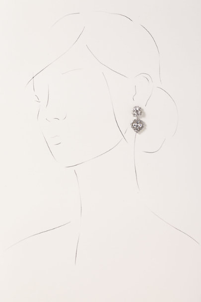 View larger image of Crystal Heart Drop Earrings