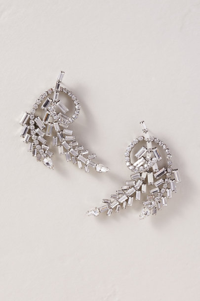 Dannijo Silver Lucille Earrings | BHLDN