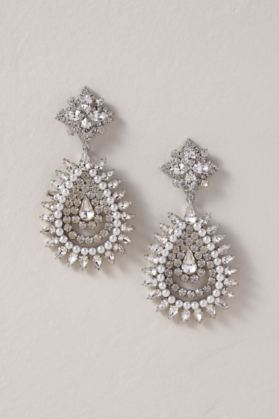 Dannijo Silver Lea Chandelier Earrings | BHLDN