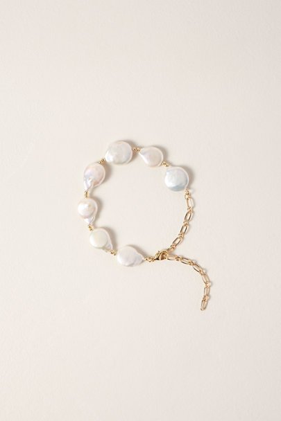 Amber Sceats Gold Mother of Pearl Bracelet | BHLDN