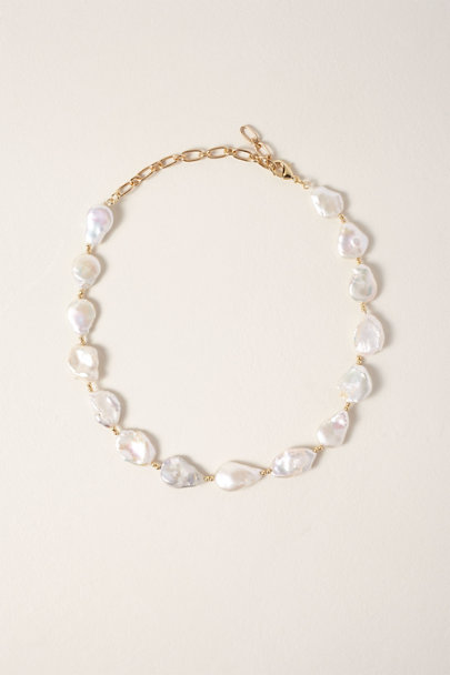 Amber Sceats Gold Mother of Pearl Necklace | BHLDN