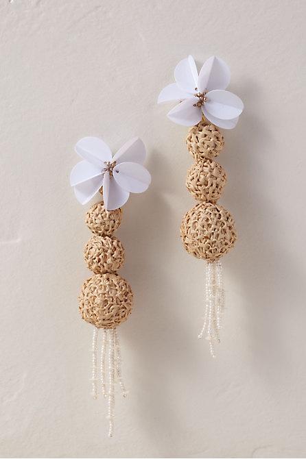 Raffia Sphere Earrings