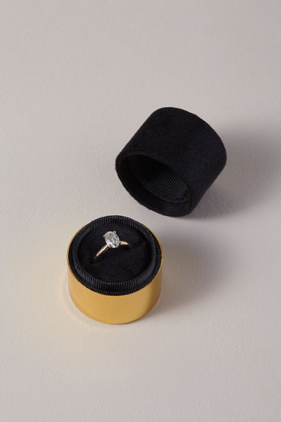 Esselle Black Esselle Velvet Ring Box | BHLDN