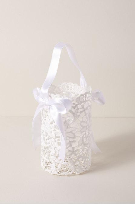 Large Lace Flower Girl Basket