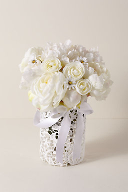 Large Lace Flower Girl Basket