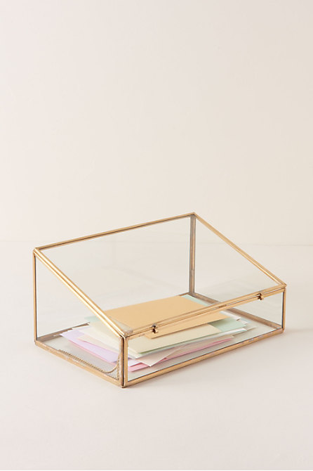 Glass Card Box