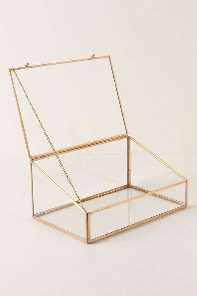 Gold Glass Card Box | BHLDN