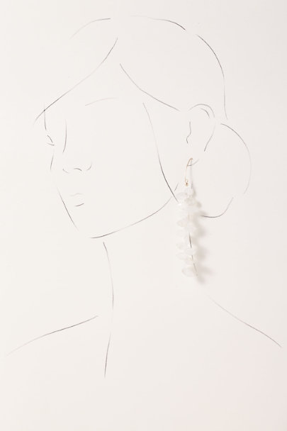 Whim Jewelry Gold Moonstone Vine Earrings | BHLDN