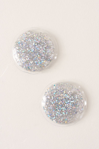 Twelve Inc. White Glitter Gel Eye Pads | BHLDN
