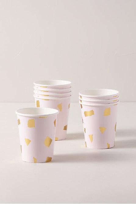 Pink Terrazzo Paper Cups