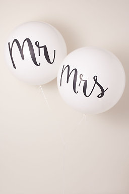 Mr. & Mrs. Jumbo Balloons