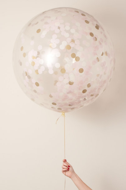Bubblegum Balloons Pink Giant Confetti Balloon | BHLDN