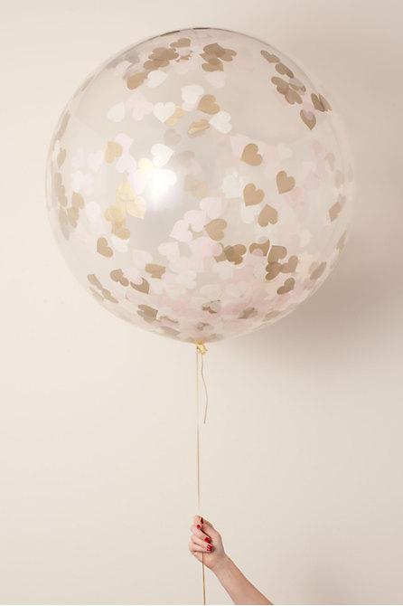Jumbo Heart Confetti Balloon