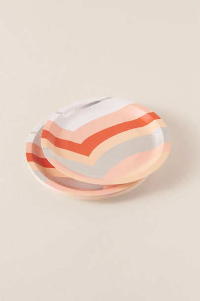 View larger image of Peach Stripe Small Paper Plates