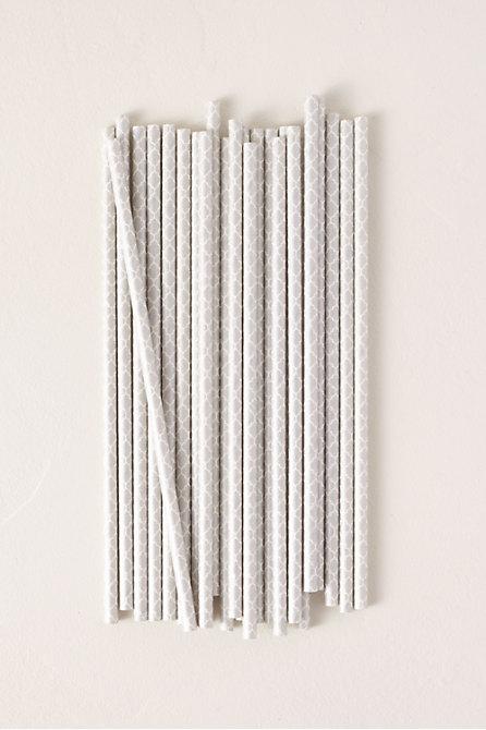 Quatrefoil Paper Straws