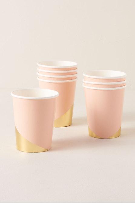 Foil Splatter Paper Cups