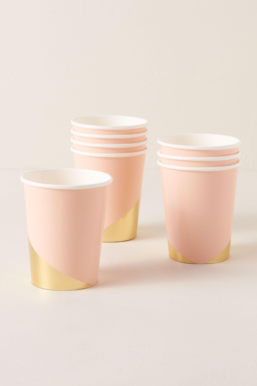 Pink Foil Splatter Paper Cups | BHLDN