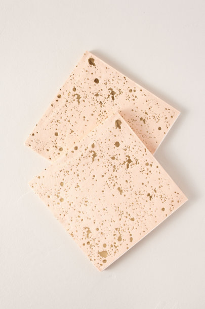Harlow & Grey Pink Foil Splatter Paper Lunch Napkins | BHLDN