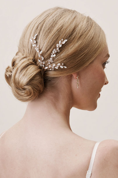 Twigs & Honey Rose Crystal Fronds Hair Pin | BHLDN