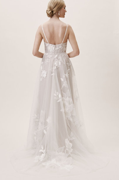 Willowby by Watters Ivory/Latte Hutchinson Gown | BHLDN
