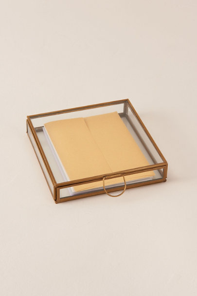 HomArt Gold Small Brass Box | BHLDN