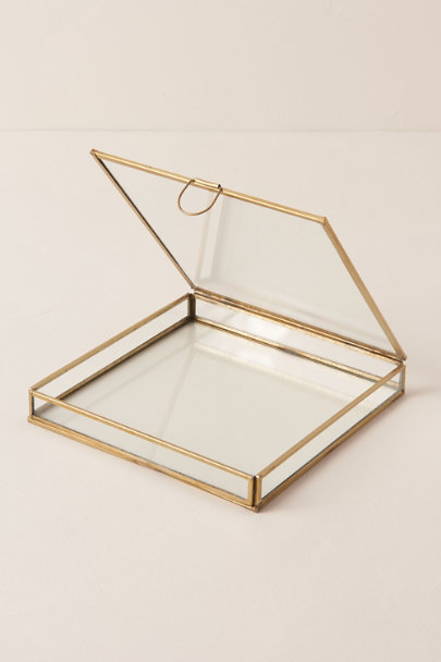 HomArt Gold Medium Brass Box | BHLDN