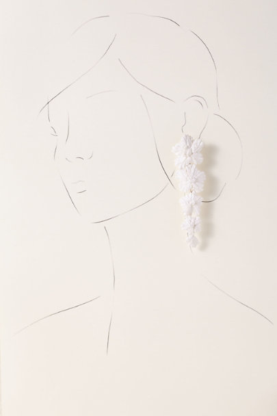 A.B. Ellie White Noelani Earrings | BHLDN