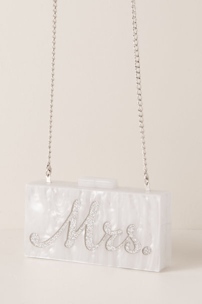 Rae of Light Light Grey Minimalist Mrs. Clutch | BHLDN