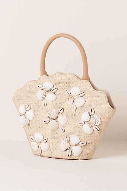 Aria Raffia Tote Bag