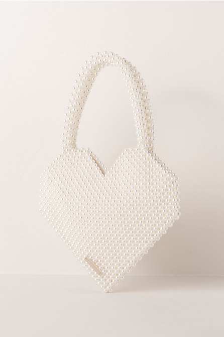 Maria Beaded Heart Bag