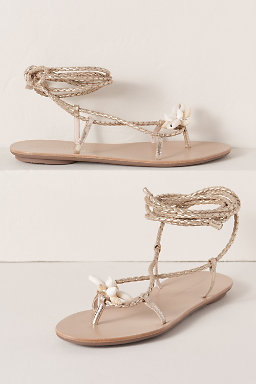 Loeffler Randall Wrap Sandal with Shells