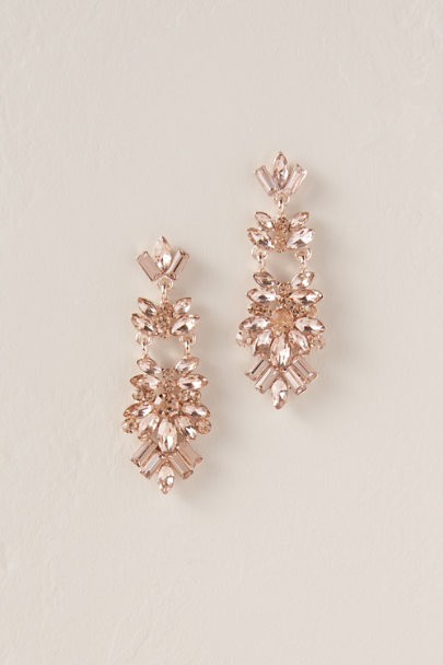Jardin Pink Linnett Drop Earrings | BHLDN