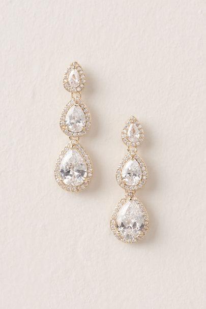 Jardin Gold Honoria Drop Earrings | BHLDN