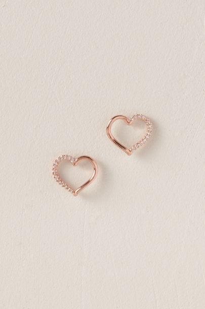 Theia Jewelry Rose I Heart You Earrings | BHLDN