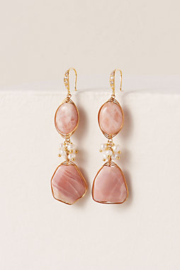 Pink Moonstone Earrings