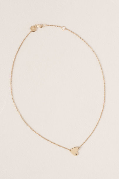Jennifer Zeuner Gold A Piece Of My Heart Necklace | BHLDN