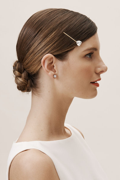 France Luxe Gold Solo Stud Hair Pin | BHLDN