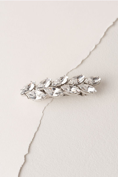 France Luxe Silver Hilde Barrette | BHLDN