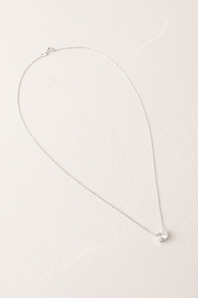 Amy O. Silver Kay Crystal Pendant Necklace | BHLDN