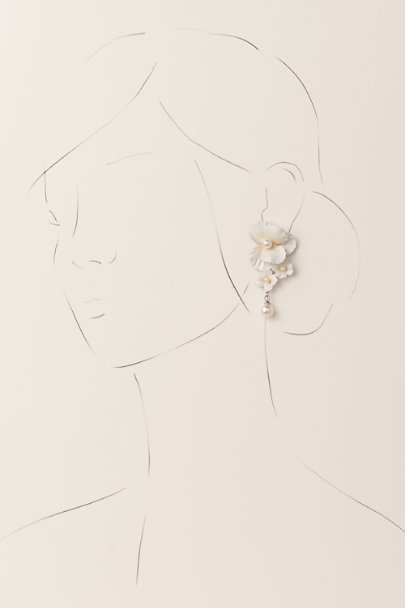 Jennifer Behr Ivory Sadira Earrings | BHLDN