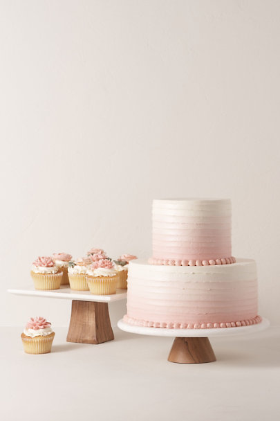 Grey Square Top Marble Cake Stand | BHLDN